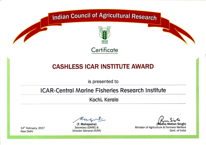 CMFRI--Cashless-Inst.-ICAR-Award-+-Cheque.jpg