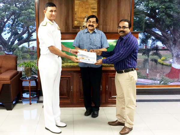 CMFRI handing over the database to Indian Navy